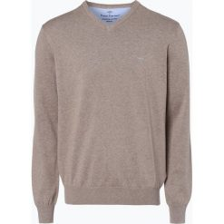 Swetry klasyczne męskie: Fynch Hatton – Sweter męski, beżowy