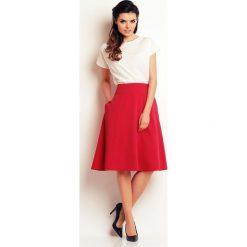 Różowa Rozkloszowana Spódnica z Kieszeniami. Czerwone spódnice wieczorowe marki Molly.pl, l, midi, rozkloszowane. Za 105,90 zł.