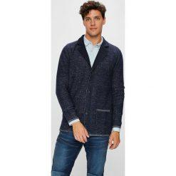 Guess Jeans - Kardigan. Szare kardigany męskie marki Guess Jeans, l, z aplikacjami, z bawełny. W wyprzedaży za 479,90 zł.