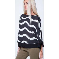 Bluzka we wzory oversize kremowo-czarna MP28393. Białe bluzki na imprezę Fasardi, s. Za 47,20 zł.