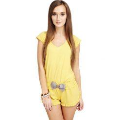 Piżamy damskie: Piżama w kolorze żółtym