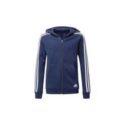 Bluzy dresowe Dziecko adidas  Bluza z kapturem Essentials 3-Stripes. Niebieskie bluzy chłopięce rozpinane marki Adidas, z dresówki. Za 199,00 zł.
