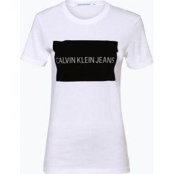 Calvin Klein Jeans - T-shirt damski, czarny. Czarne t-shirty damskie marki Calvin Klein Jeans, m, z nadrukiem, z jeansu. Za 219,95 zł.