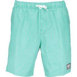 Szorty kąpielowe w kolorze zielono-białym. Białe kąpielówki męskie marki Speedo, w paski, klasyczne. W wyprzedaży za 117,95 zł.