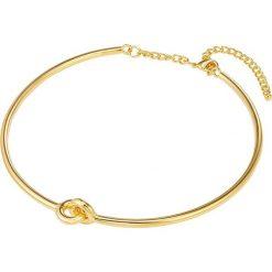 Naszyjniki damskie: Pozłacany naszyjnik z elementem ozdobnym – dł. 42,5 cm