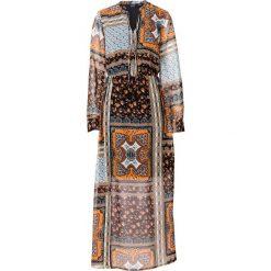 Sukienki: Must-have: długa sukienka szyfonowa bonprix z patchworkowym nadrukiem