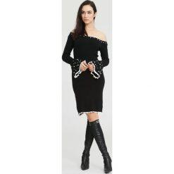 Czarna Sukienka Burgund. Czarne sukienki dzianinowe other, na jesień, l. Za 89,99 zł.