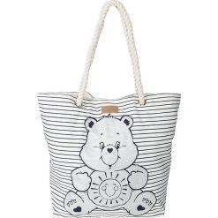 Shopper bag damskie: Shopper bag w kolorze białym – 43 x 55 x 17 cm