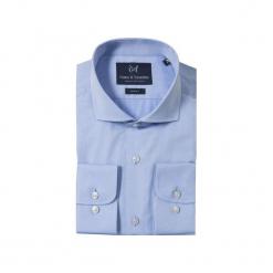 KOSZULA BLUE CUTAWAY. Niebieskie koszule męskie na spinki marki Guns&tuxedos, m, z kwadratowym dekoltem. Za 149,99 zł.