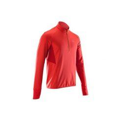 Bluza Do Biegania Długi Rękaw Kiprun Warm Light Męska. Czerwone bluzy męskie rozpinane marki KALENJI, m, z elastanu, z długim rękawem, długie. Za 99,99 zł.