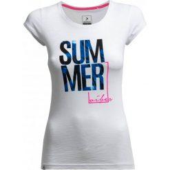 T-shirt damski TSD618 - biały - Outhorn. Białe t-shirty damskie Outhorn, z bawełny. W wyprzedaży za 29,99 zł.