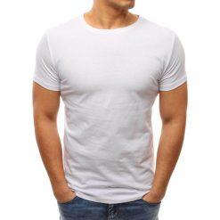T-shirty męskie: T-shirt męski gładki biały (rx2630)