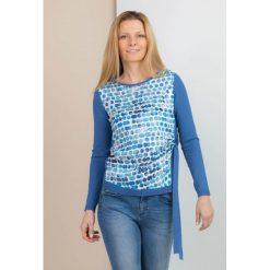 Swetry klasyczne damskie: Sweter z motywem kółeczek