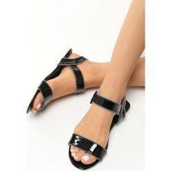 Rzymianki damskie: Czarne Sandały Lucky Strike
