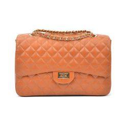 Torebki i plecaki damskie: Skórzana torebka w kolorze jasnobrązowym – (S)22 x (W)32 x (G)12 cm