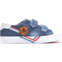 Niebieskie Trampki Peaceful Days. Niebieskie buty sportowe chłopięce marki Born2be, z materiału, młodzieżowe, z okrągłym noskiem. Za 59,99 zł.