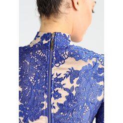 Missguided HIGH NECK BODYCON DRESS Sukienka koktajlowa blue. Niebieskie sukienki koktajlowe marki Missguided, z materiału, bodycon. W wyprzedaży za 359,20 zł.
