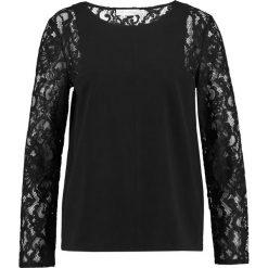 Bluzki asymetryczne: See u Soon BLACK TOP WITH LACE SLEEVES Bluzka black