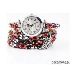 Bransoletki damskie: Zegarek, bransoletka – Czerwone kwiaty
