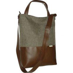 Shopper bag damskie: beżowa torba na ramie, bezowa listonoszka xxl
