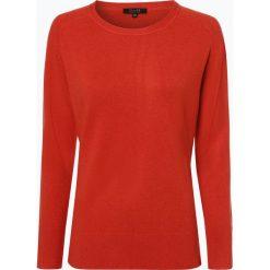 SvB Exquisit - Sweter damski z czystego kaszmiru, pomarańczowy. Brązowe swetry klasyczne damskie marki SvB Exquisit, z dzianiny. Za 699,95 zł.