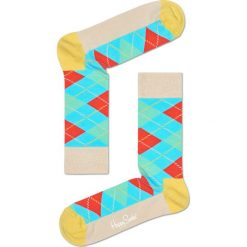 Happy Socks - Skarpety Argyle. Szare skarpetki męskie Happy Socks, z bawełny. W wyprzedaży za 27,90 zł.