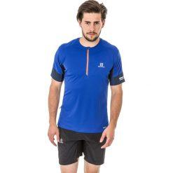 Salomon Koszulka męska Agile Tee niebiesko-garnatowe r. XL (392607). Niebieskie koszulki sportowe męskie Salomon, m. Za 107,15 zł.