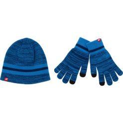 Zestaw Czapka i Rękawiczki NEW BALANCE - 500342 470. Niebieskie czapki zimowe damskie New Balance, z materiału. Za 129,99 zł.