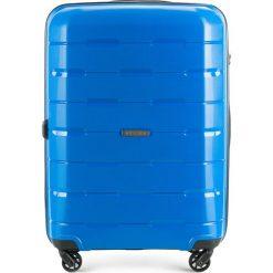 Walizka średnia 56-3T-722-95. Czarne walizki marki Wittchen, z gumy, duże. Za 229,00 zł.
