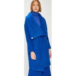 Answear - Płaszcz Watch Me. Niebieskie płaszcze damskie wełniane marki Reserved. W wyprzedaży za 349,90 zł.