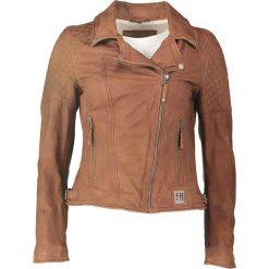 """Bomberki damskie: Skórzana kurtka """"Glory"""" w kolorze jasnobrązowym"""