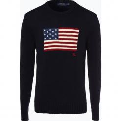 Polo Ralph Lauren - Sweter męski, niebieski. Niebieskie swetry klasyczne męskie Polo Ralph Lauren, m, z bawełny, polo. Za 749,95 zł.