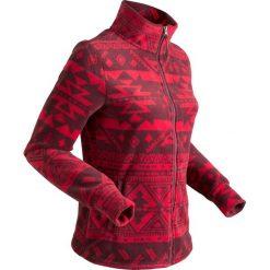 Drukowana bluza z polaru, długi rękaw bonprix ciemnoczerwony z nadrukiem. Zielone bluzy polarowe marki bonprix, w kropki, z kopertowym dekoltem, kopertowe. Za 79,99 zł.