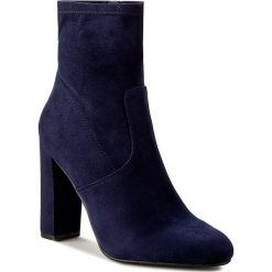 Botki STEVE MADDEN - Editt Ankle Boot 91000022-0W0-09007-04002 Navy. Niebieskie botki damskie na obcasie marki Steve Madden, z materiału. W wyprzedaży za 309,00 zł.