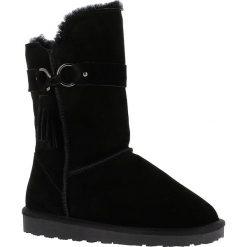 """Buty zimowe damskie: Skórzane kozaki """"Bangle"""" w kolorze czarnym"""