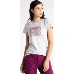 Black Diamond BLOCK TEE Tshirt z nadrukiem aluminium. Szare topy sportowe damskie marki Black Diamond, xl, z nadrukiem, z bawełny. Za 149,00 zł.