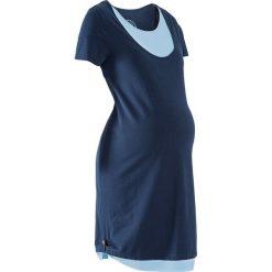 Sukienki ciążowe: Sukienka shirtowa ciążowa i do karmienia piersią bonprix ciemnoniebiesko-jasnoniebieski