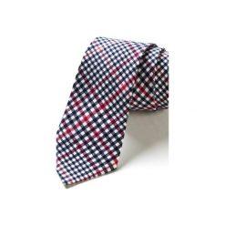 Krawat męski w kratkę UBEDA. Szare krawaty męskie HisOutfit, w kratkę, z materiału. Za 129,00 zł.