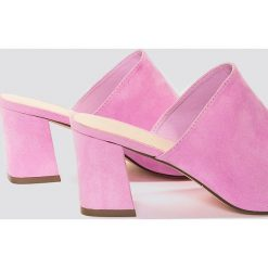Chodaki damskie: NA-KD Shoes Klapki na obcasie - Pink