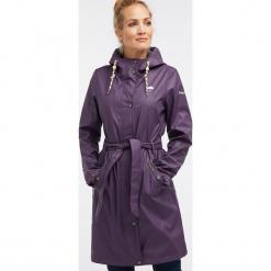 Płaszcz przeciwdeszczowy w kolorze fioletowym. Fioletowe płaszcze damskie Schmuddelwedda, xs, w paski. W wyprzedaży za 347,95 zł.