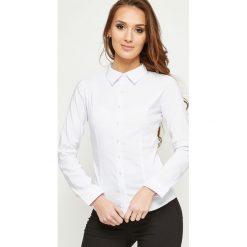 Koszula klasyczna biała. Brązowe koszule damskie marki Yups, l, z bawełny, młodzieżowe. Za 59,99 zł.