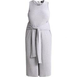 Kombinezony damskie: Daisy Street Plus TIE FRONT Kombinezon grey