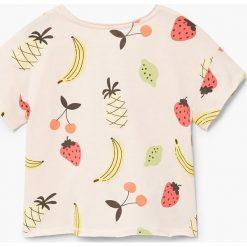 Mango Kids - Top dziecięcy Bigf 110-164 cm. Szare bluzki dziewczęce bawełniane marki bonprix, m, melanż, z kontrastowym kołnierzykiem. Za 35,90 zł.