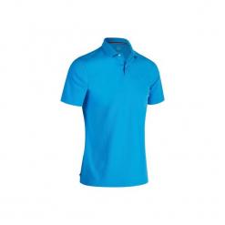 Koszulka polo do golfa 500 męska. Niebieskie koszulki polo marki QUECHUA, m, z elastanu. W wyprzedaży za 29,99 zł.