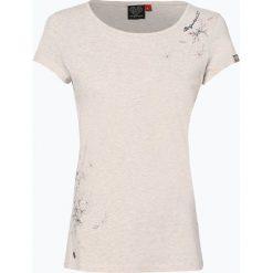 Ragwear - T-shirt damski – Mint Print, beżowy. Brązowe t-shirty damskie marki Ragwear, l, z nadrukiem. Za 69,95 zł.