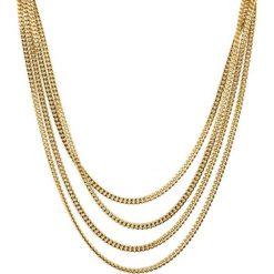 Naszyjniki damskie: Naszyjnik w kolorze złotym – (D)80 cm