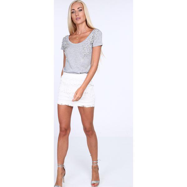 15c66876b25c Spódniczka koronkowa kremowa ZZ386 - Białe spódniczki damskie marki ...
