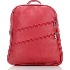 Plecaki damskie: ALENA Skórzany plecak damski Czerwony