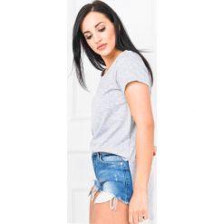 Bluzki asymetryczne: Asymetryczna bluzka tunika z kieszonką