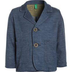 Benetton Marynarka blue. Niebieskie kurtki dziewczęce marki Benetton, z bawełny. W wyprzedaży za 126,75 zł.